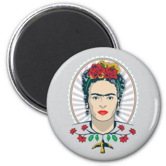 Frida Kahlo | Vintage Bloemen Magneet