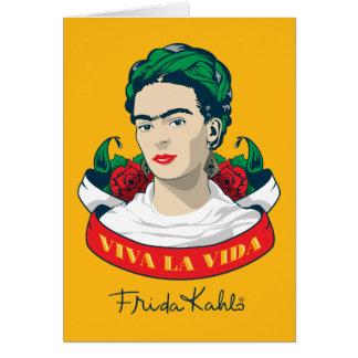 Frida Kahlo   Viva La Vida Kaart