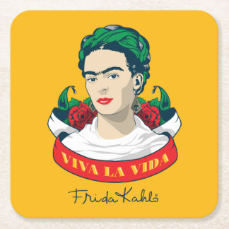 Frida Kahlo | Viva La Vida Vierkante Onderzetter
