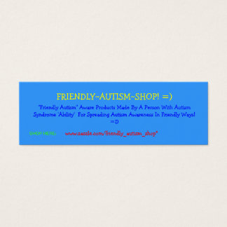 Friendly~Autism~Shop! =) Adverterene Kaarten Mini Visitekaartjes