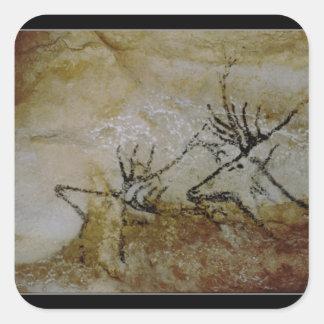 Fries van herten, c.17000 BC Vierkante Sticker