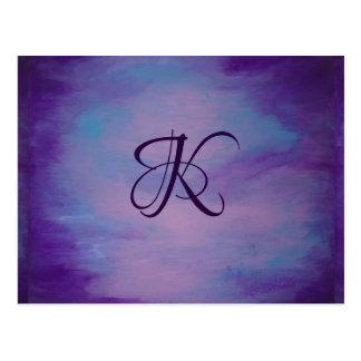 Frivool Kantoor | Zacht Paars Blauw Roze | van het Briefkaart