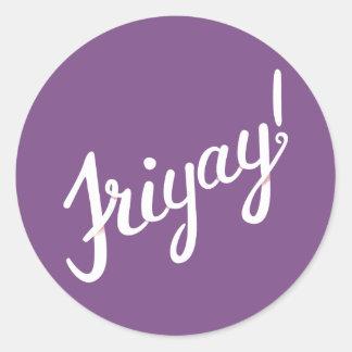 Friyay! Ronde Sticker