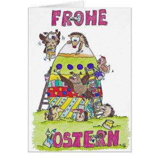 FROHE Ostern- wenskaart door Nicole Janes