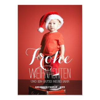 Frohe Weihnachten   Duitse Kaart van de Foto van