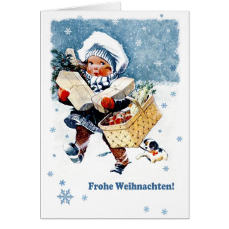 Frohe Weihnachten. Duitse Kerstkaart Briefkaarten 0