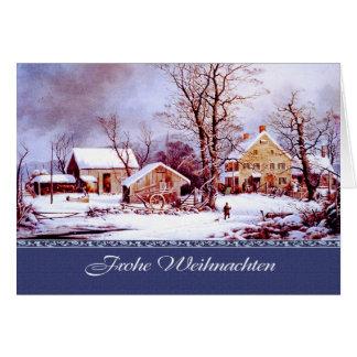 Frohe Weihnachten. Duitse Kerstkaarten Briefkaarten 0