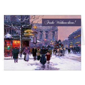 Frohe Weihnachten. Duitse Kerstkaarten Wenskaart