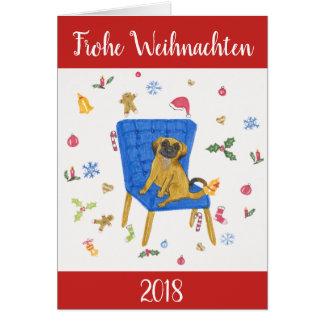 """""""Frohe Weihnachten"""" - Süße Hunde Briefkaarten 0"""