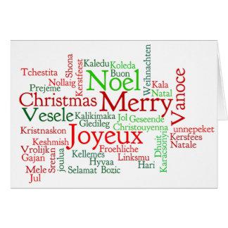 Frohe Weihnachten! Vrolijke Kerstmis in Duitse wf Kaart
