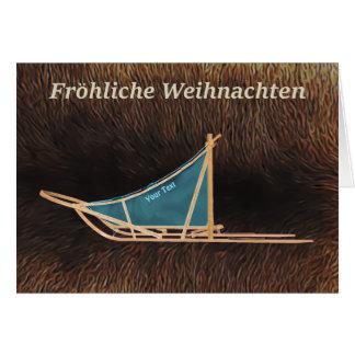 Fröhliche Weihnachten - de Slee van de Hond Wenskaart