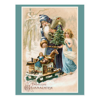 Frohliche Weihnachten het Vintage Duits Briefkaart