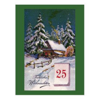 """""""Frohliche Weihnachten"""" het Vintage Duits Briefkaart"""