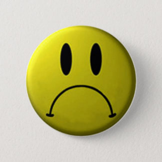Frown de Knoop van het Gezicht Ronde Button 5,7 Cm