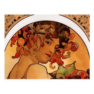 """""""Fruit"""" door het briefkaart van Alphonse Mucha"""