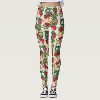 Fruit en Plantaardige Appliqué Leggings