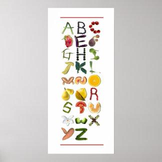 Fruit en Veggies Poster