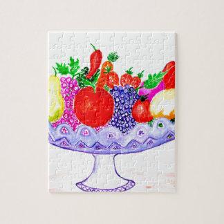 Fruit in het Art. van de Vaas Foto Puzzels