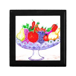 Fruit in het Art. van de Vaas Vierkant Opbergdoosje Small