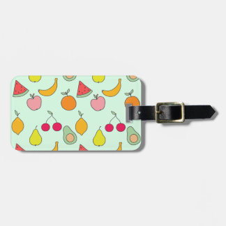 fruit patroon bagagelabel