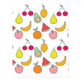 fruit patroon briefkaart