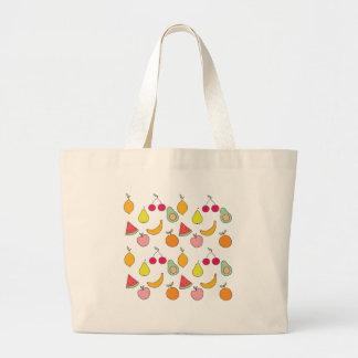 fruit patroon grote draagtas