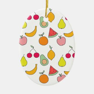 fruit patroon keramisch ovaal ornament