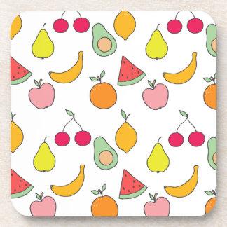 fruit patroon onderzetter