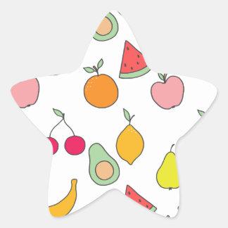 fruit patroon ster sticker