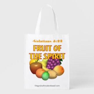 Fruit van de Christen van de Geest Herbruikbare Boodschappentas