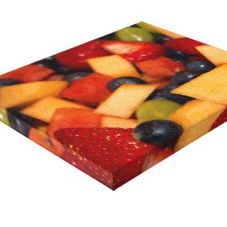 Fruitsalade met de Druiven van de Bosbessen van Canvas Afdrukken