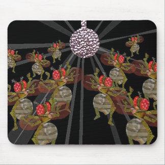 Fruitvliegen die onder de Bal van de Disco dansen Muismat