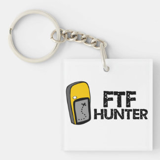 FTF Jager Geocaching Keychain Sleutelhanger