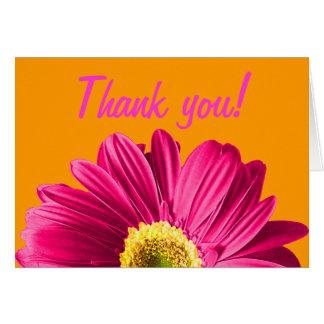 Fuchsiakleurig Daisy Flower Thank You of Douane Briefkaarten 0