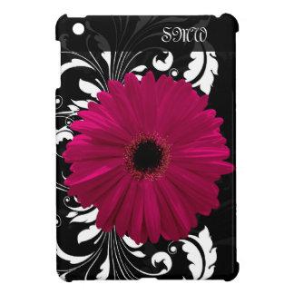 Fuchsiakleurig Gerbera Daisy met Zwart-witte iPad Mini Cases