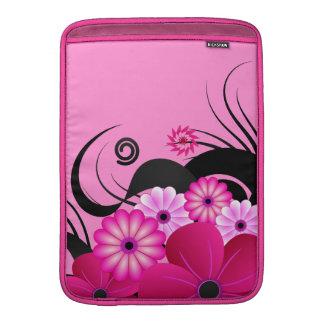 Fuchsiakleurig Hibiscus 13 in de Verticaal van het MacBook Air Beschermhoes