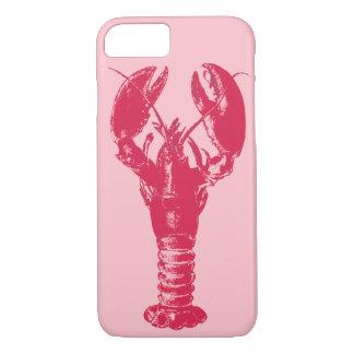 Fuchsiakleurig Zeekreeft op Lichtrose iPhone 8/7 Hoesje