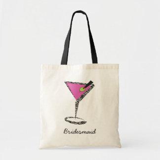 fun martini hot pink bag