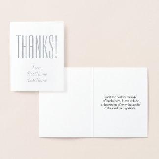 """Fundamenteel & Aangepast """"Bedankt!"""" Kaart"""