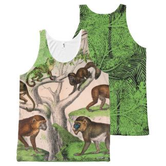 Funky Aap Unisex- All-Over-Print Tank Top