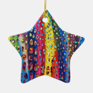 Funky Artistieke Patroon van de Huid van de Slang Keramisch Ster Ornament