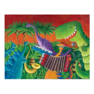 Funky Band van de Dinosaurus Briefkaart