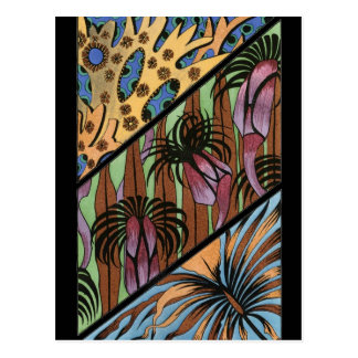 Funky Bloemen StammenDruk Briefkaart