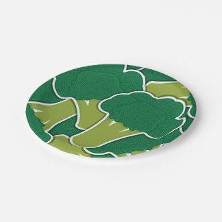 Funky broccoli papieren bordje