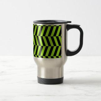 Funky Chevron van de Zigzag van het Neon Groene en Reisbeker