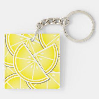 Funky citroenwiggen! sleutelhanger