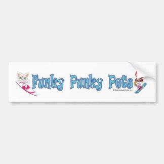 Funky de bumpersticker van Huisdieren Punky