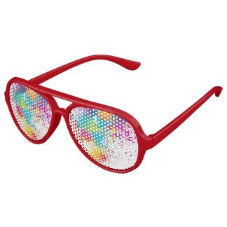 funky en kleurrijk aviator zonnebril