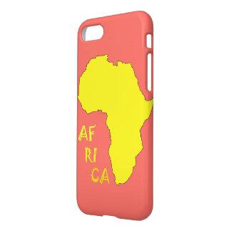 Funky Gele Kaart IPhone van Afrika 8/7 Dekking van iPhone 8/7 Hoesje