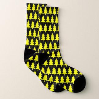 Funky Gele Sokken van het Patroon van de Kerstboom